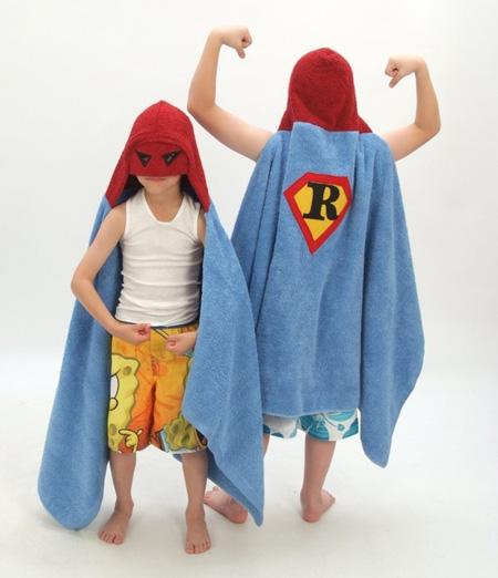 Como hacer una capa toalla o salida de baño infantil (de superheroe)