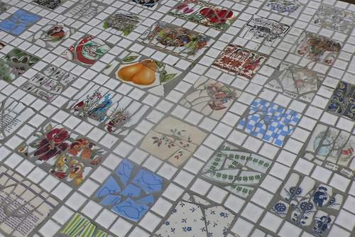 Recicla tus platos y vajilla rotos con la tecnica de mosaico