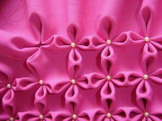 Como hacer el punto flor, para almohadones, mantas, etc