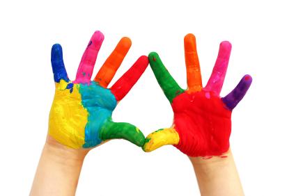 Dactilo pintura, pintura para dedos casera