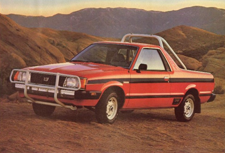It S A Anese 4x4 El Camino With T Tops And Backwards Facing Jump Seats They Get Around 30mpg Have The Wonderful Subaru Pancake Motor That Runs For