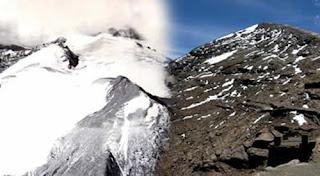 1940-2009 - Lo que queda del glaciar Chacaltaya.