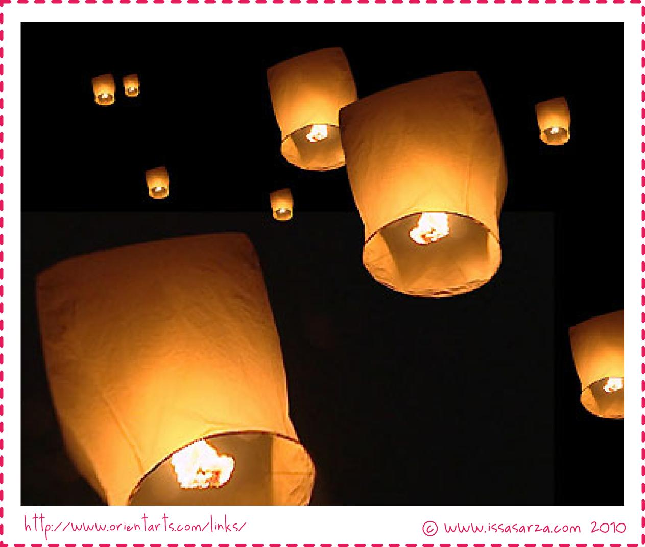 My innermost thoughts floating sky lantern just - How to make chinese lantern ...