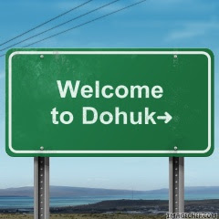 "visit University of Dohuk by clicking on ""welcome"" sign"