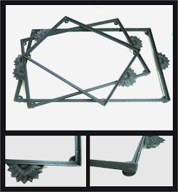 Soportes en hierro para bandejas