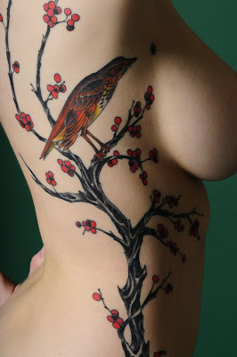 The spiritual meaning for bird tattoos in general is one of birth,