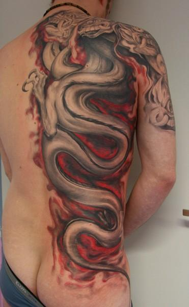 You'll find Japanese dragon tattoos and Chinese dragon tattoos here,