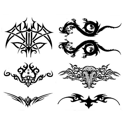 Retail Temporary Tattoos > F10753 Majestic Ink Lower Back Temporary Tattoo