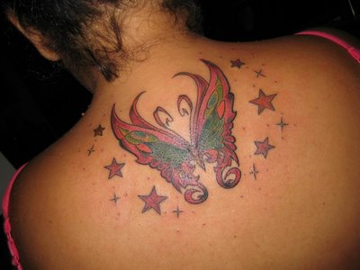 tribal tattoos, butterfly tattoos, flower tattoos, lower back tattoos