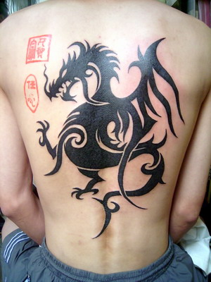 celtic cross tattoos designs · Asian asian dragon