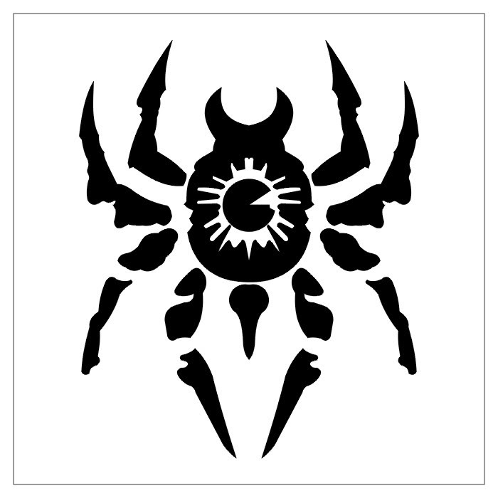 spider-shaped tattoo design which mean that the spider has a great power