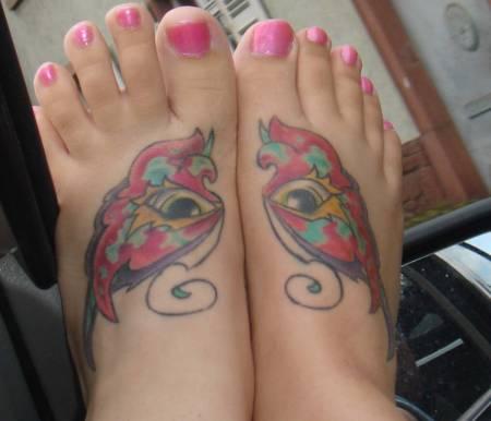 Tattoos Of Kids Feet. designs for girls feet