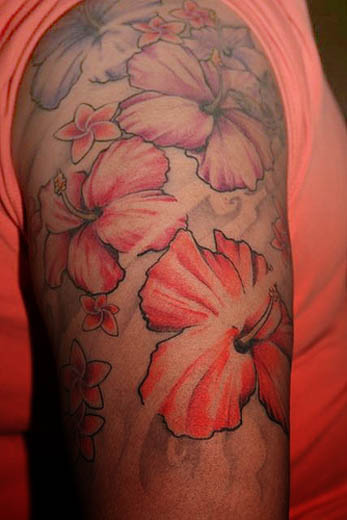 hawaiian flower tattoo designs for girl. The hibiscus flower tattoo is