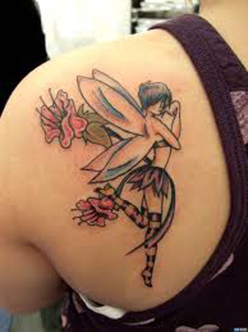 dark fairy tattoos. cute fairy tattoos designs