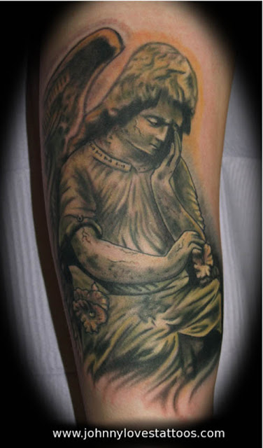 quotes for tattoos about death. angel of death tattoos.