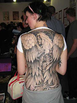 beautiful angel tattoos design for women