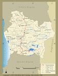 Mapa Politico de la VIII Region