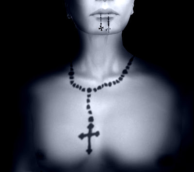 Rosaries Tattoos On Neck. With Rosary Beads Tattoos