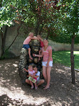 The kids and I at the Zoo