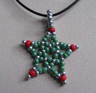 beaded Christmas star