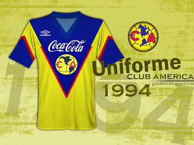 G partidaguila uniforme club am rica 1994 for Cuarto uniforme del club america