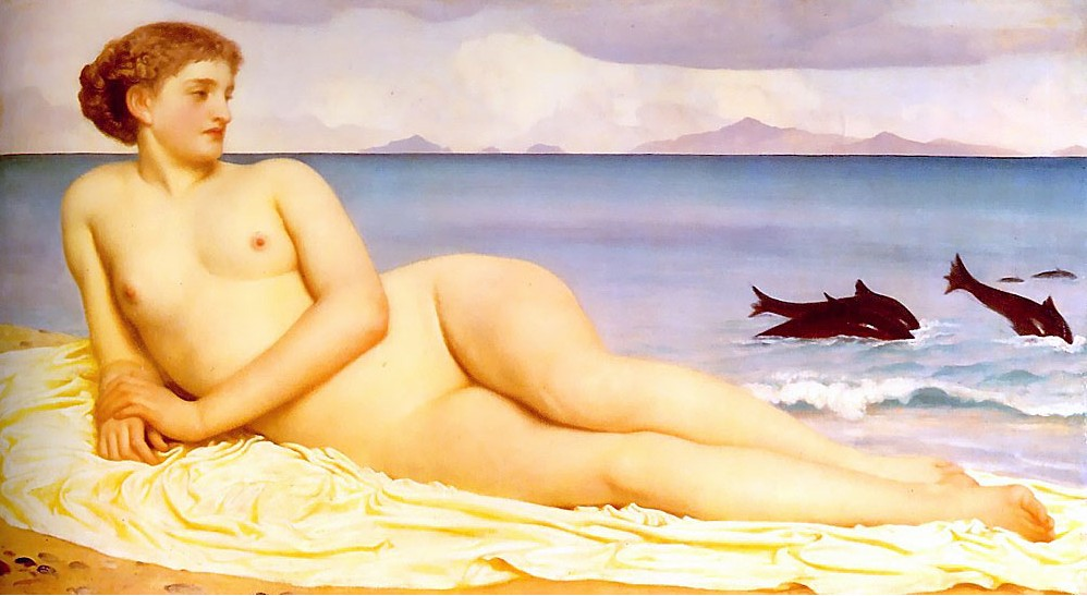 Frederic Leighton, pittore Frederic+Leighton+-++Actaea,+the+Nymph+of+the+Shore