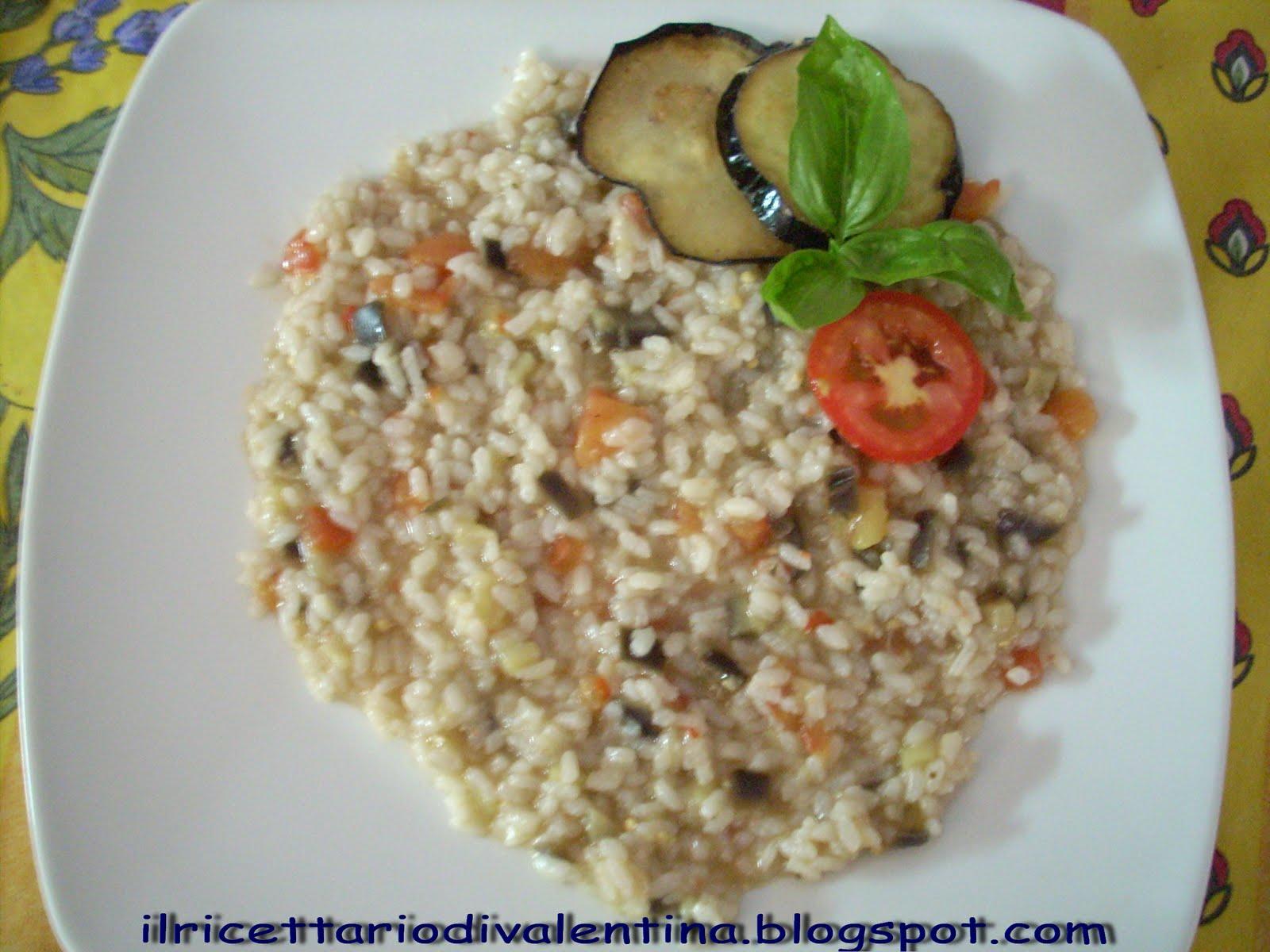 Risotto alle melanzane il ricettario di valentina for Cucinare risotto