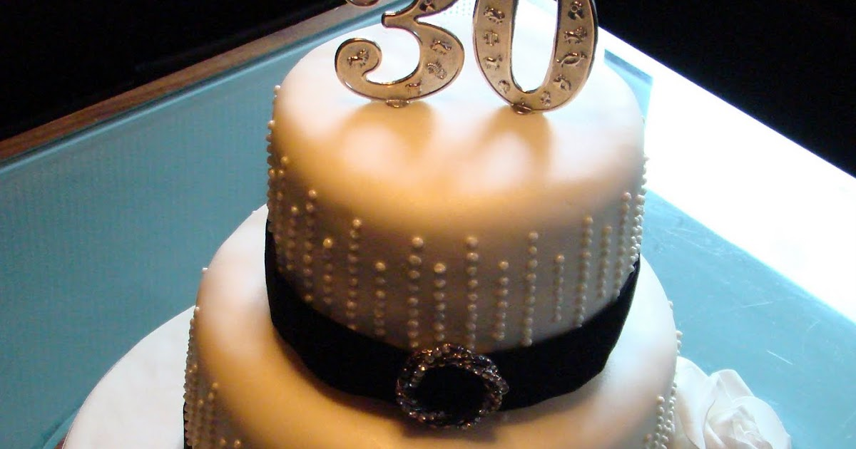 Boutique Cake Shop: Art Deco 30th Birthday Cake