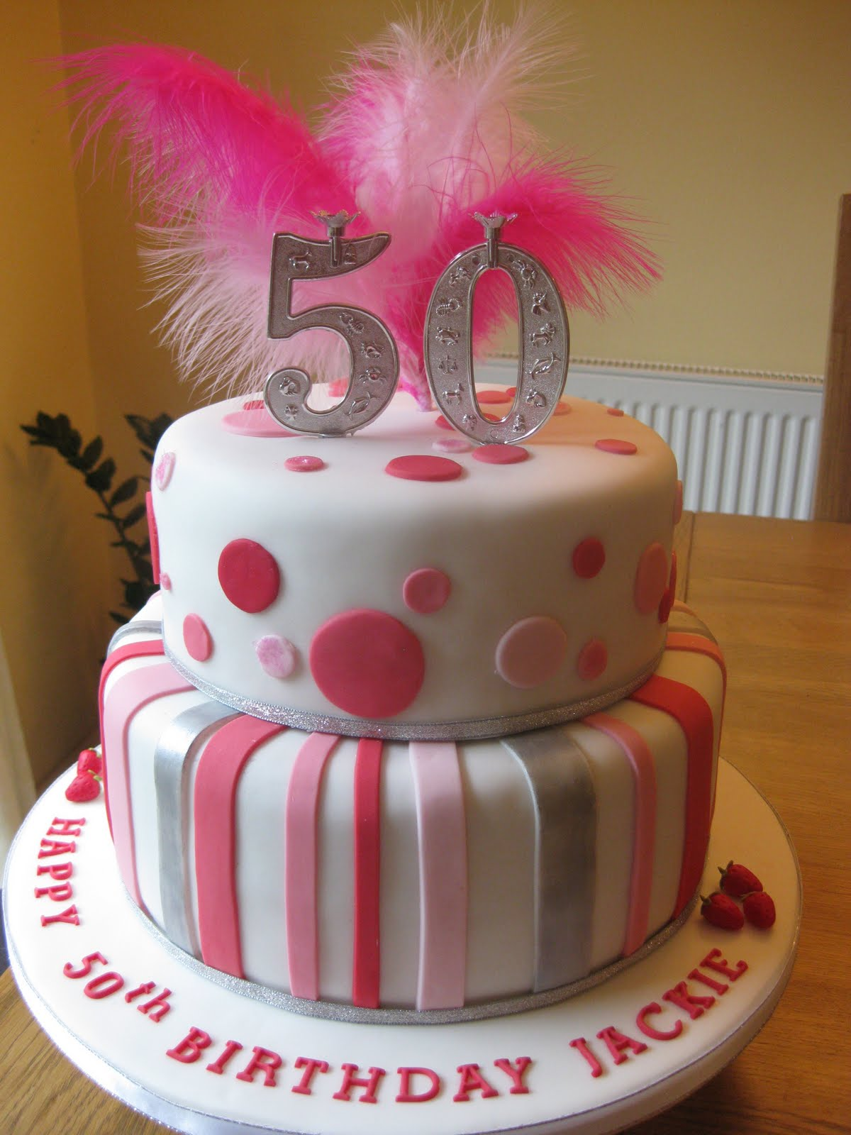 Spots And Stripes 50th Birthday Boutique Cake Shop