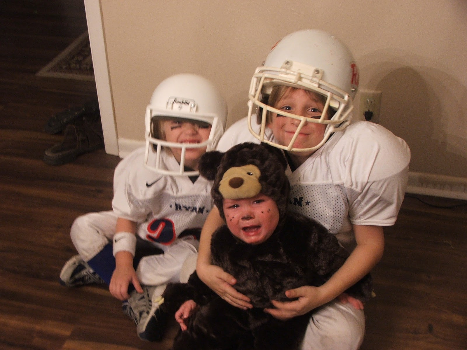 What to be for Halloween was quite the debate this year. Ryan wanted to be a v&ire. He told me the costume would be  simple  with a tuxedo ...  sc 1 st  The Sometimes Supermom & The Sometimes Supermom: Football Players and a Grizzly Bear