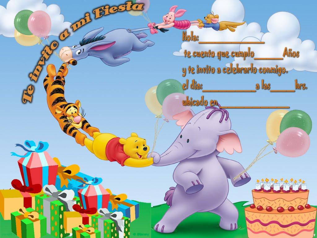 Winnie the Pooh | Tarjetas de cumpleaños para imprimirTarjetas de ...