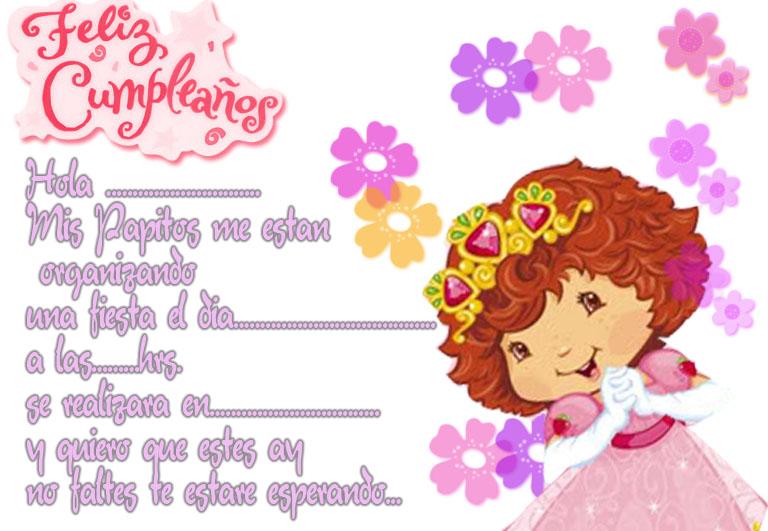 Fresita | Tarjetas de cumpleaños para imprimirTarjetas de ...