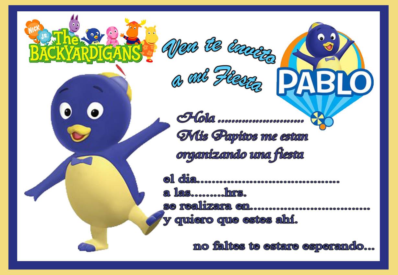 Tarjeta De Cumplea  Os De Backyardigans Pablo
