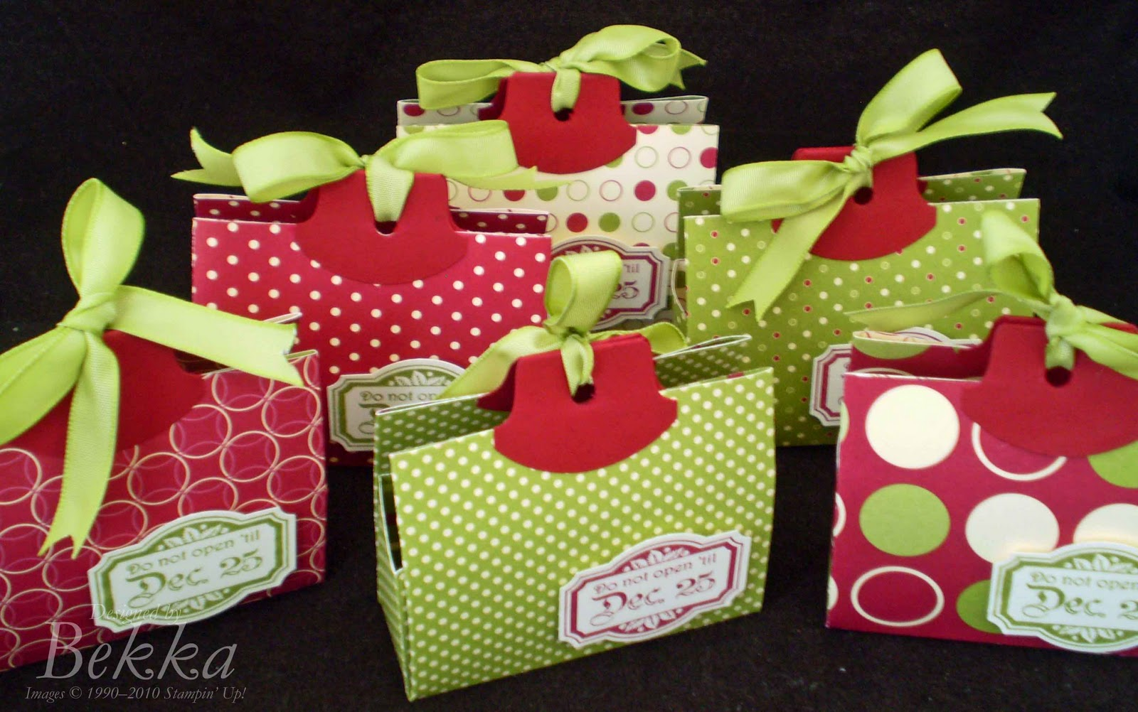 Stampin 39 up uk feeling crafty bekka prideaux stampin - Table gifts for christmas ...