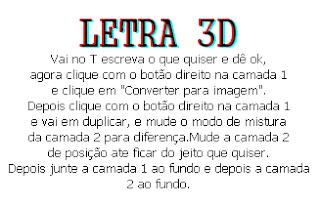 letra 3D no photofiltre studio