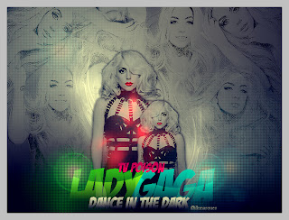 Dance In The Dark + Efeito + Fonte blend lady gaga no photofiltre studio