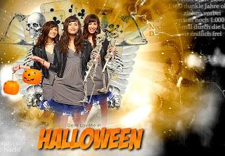 Demi Lovato in Halloween blend no photofiltre studio