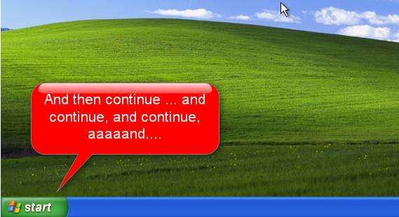 Tampilan desktop Windows XP