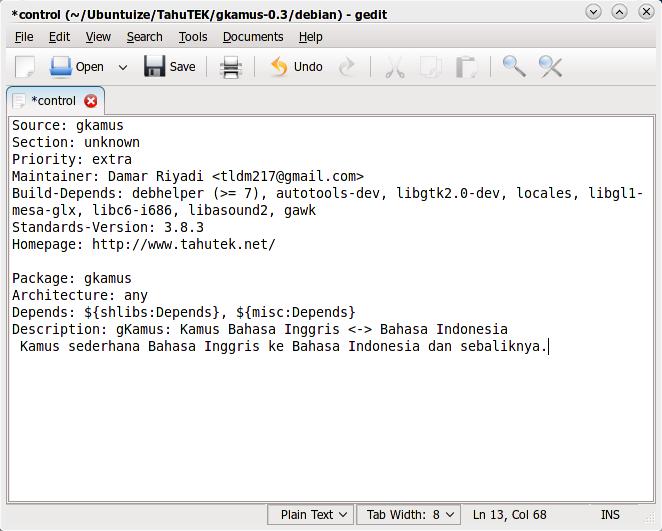 Hasil akhir editing file control