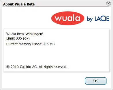 Tentang aplikasi client Wuala
