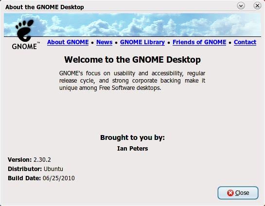 Ubuntu Lucid Lynx dengan Desktop GNOME 2.30.2