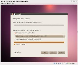 Panduan membuat partisi untuk instalasi Ubuntu -Bagian 1/2