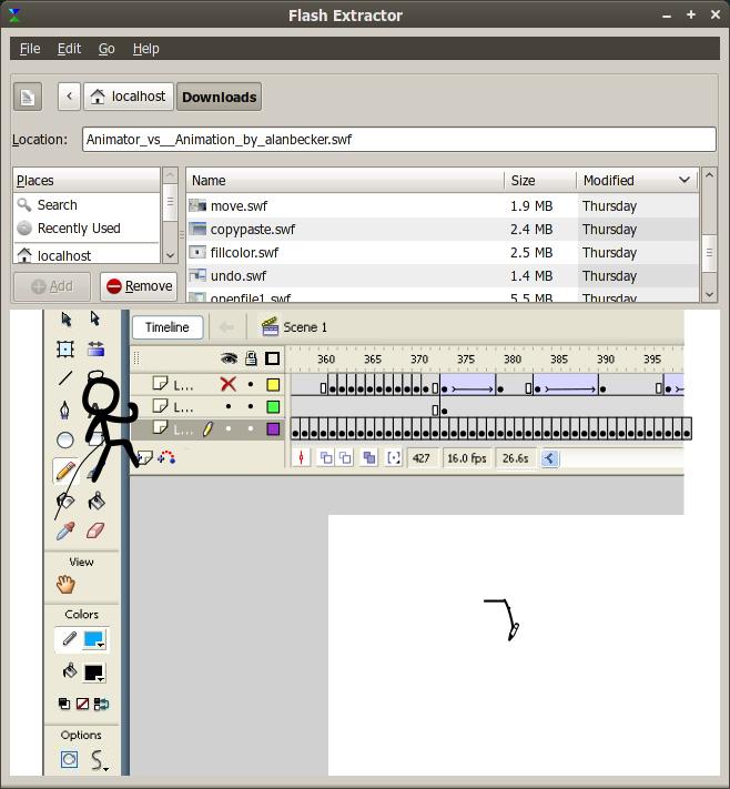 FlashExtractor: Ekstrak konten dari file swf