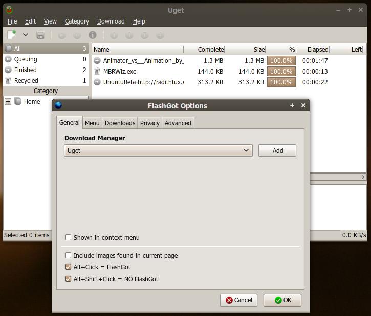 Integrasi Uget dengan Firefox