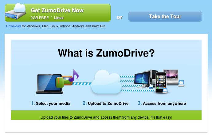 ZumoDrive: 2 GB gratis untukmu