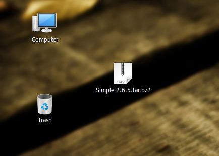 Taruh file di desktop