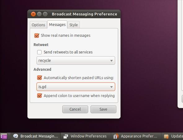 Taskbar dan window button didesain ulang