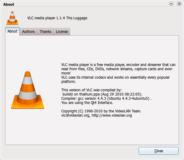 VLC 1.1.4 telah dirilis