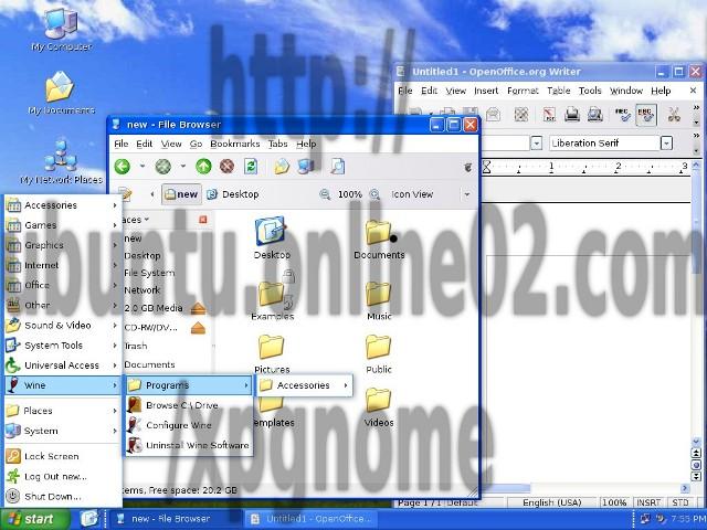 Ubah tampilan Ubuntu menjadi Windows XP