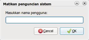 Buka kunci user tertentu